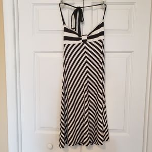 H & M Striped Midi Halter Dress Size 10
